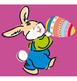 cute Easter bunny holding e vector image