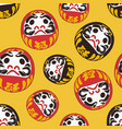 daruma doll is a talisman for japanese sketch vector image