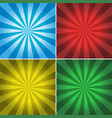 four backgrounds with beam lights on different vector image