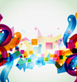 funky artistic eps10 design vector image