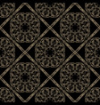gold seamless decorative filigree lace patterns vector image