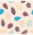 Hand-Drawn seamless pattern with pine cones of vector image