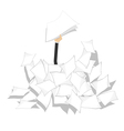 Pile of papers vector image