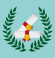 school certificate study emblem vector image