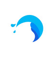 water splash wave circle icon vector image