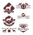 Animal Retro Vintage Logo Set vector image