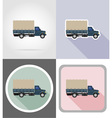 truck flat icons 03 vector image vector image
