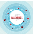 Greeting card I love you happy Valentine Day vector image
