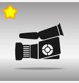 video camera black icon button logo symbol vector image