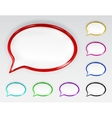 Set of multicolored glossy speech bubbles vector image vector image