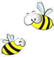 funny cartoon bees vector image