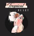 hand drawn abstract creative tropical vector image