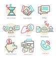 Liner set business concept vector image