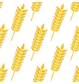 Ripe golden wheat in a seamless pattern vector image vector image
