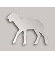Lamb paper style vector image