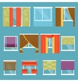 Types of curtains vector image