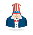 Uncle Sam call center Uncle Sam and headset Symbol vector image
