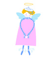 happy love angel vector image vector image