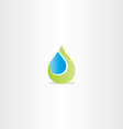 eco drop of water abstract leaf icon vector image