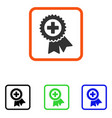 medical quality seal framed icon vector image
