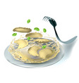 ravioli and fork vector image