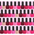 Realistic Nail Polish Seamless Pattern Background vector image