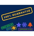 100 Percent Guarantee Rubber Stamp vector image