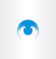 white dove freedom symbol icon logo vector image