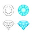 Set diamonds on a white background  Eps 10 vector image