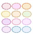 Colorful Set of Oval Vintage Label vector image vector image