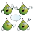 Angry pear set vector image vector image