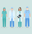 hospital staff concept group of man and woman vector image