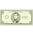 Cartoon american dollar vector