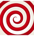 Red Hypnosis Spiral Pattern Optical vector image
