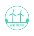 wind energy green logotype vector image