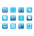computer and internet icons vector image vector image