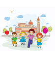 kids playing vector image
