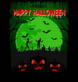 happy halloween background with zombie vector image