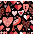 pattern of bright hearts vector image