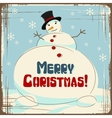 Retro Christmas Snowman Card vector image