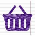 Scrible icon on paper vector image