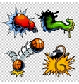 set of color comics icons vector image