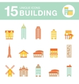 Set of icons of houses vector image