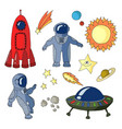set space icons vector image