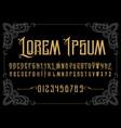 vintage font vector image