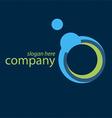 technology blue logo vector image