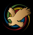 eagle fly attack vector image