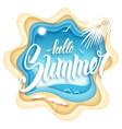 hello summer paper art vector image vector image