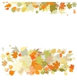 Autumn design with leafs EPS 8 vector image