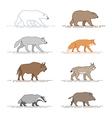 animals motion vector image